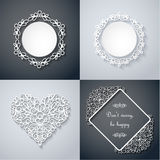 Paper decor with shadow set Royalty Free Stock Photography
