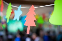 Christmas party. Paper decorations for Christmas party Stock Photos