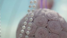 Paper decorations in the form of roses stock video footage