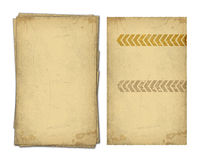 Paper design. Set of old scratched papers isolates on white background stock illustration