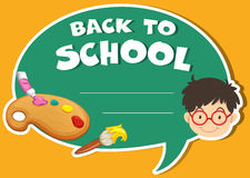 Paper design with back to school theme Stock Images