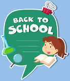 Paper design with back to school theme Royalty Free Stock Photos