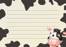 Paper design with cow and skin Stock Images