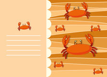 Paper design with crabs Royalty Free Stock Photo