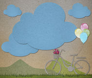 Paper design1. Paper-cut design for background Stock Image
