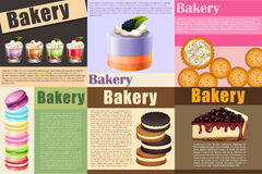 Paper design with different kind of bakery Royalty Free Stock Photo