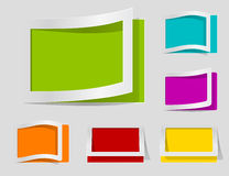 Paper design elements Stock Photo