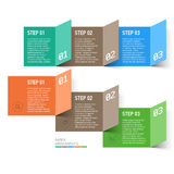 Paper design elements Royalty Free Stock Images