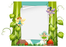 Paper design with fairies flying Stock Photography