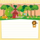 Paper design with farm theme Stock Photos