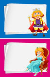 Paper design with king and queen Stock Image