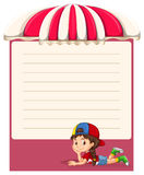 Paper design with little girl Royalty Free Stock Photos