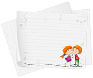 Paper design with love couple Royalty Free Stock Photos