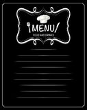 Paper design with menu food and drinks. Illustration Stock Image