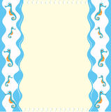 Paper design with seahorse Royalty Free Stock Images