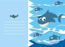 Paper design with shark in water Stock Images