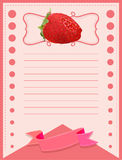 Paper design with strawberry Royalty Free Stock Photos