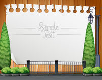 Paper design with tree in garden Stock Image