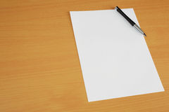 Paper on Desk Royalty Free Stock Photos