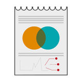 Paper diagram business icon. Isolated  illustration Stock Image