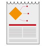 Paper diagram business icon. Isolated  illustration Stock Photos