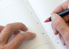 Paper diary Royalty Free Stock Image