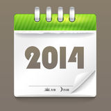 Paper diary. 2014. Paper diary. Happy New 2014 Year Royalty Free Stock Photos