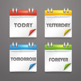 Paper diary icons Royalty Free Stock Photo