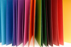 Paper of different colors Stock Photos