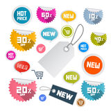 Paper Discount Labels, Tags Stock Photos