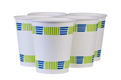 Paper disposable coffee cups Stock Photography
