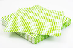 Paper disposable napkins Serving Royalty Free Stock Photos
