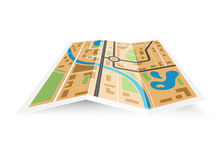 Paper district map 3D Royalty Free Stock Images