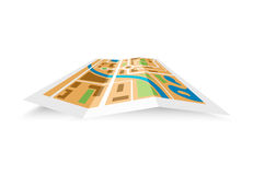 Paper district map Royalty Free Stock Images
