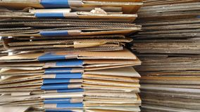 The paper Division prepared for delivery to Sell. royalty free stock image