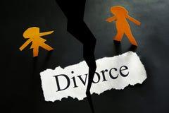 Paper divorce concept royalty free stock photos