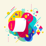 Paper document on abstract colorful spotted background with diff Royalty Free Stock Photos