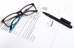 Paper Document for business with pen Stock Photography