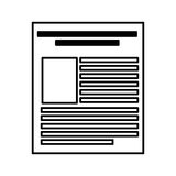Paper document file icon. Vector illustration design Royalty Free Stock Image