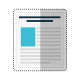 Paper document file icon. Vector illustration design Royalty Free Stock Photography