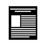 Paper document file icon. Vector illustration design Royalty Free Stock Photo