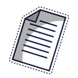Paper document file isolated icon Stock Images