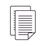 Paper document file isolated icon Royalty Free Stock Photography