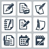 Paper document vector icons Stock Image