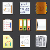 Paper and documents icons Royalty Free Stock Photography