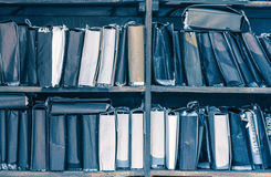 Paper documents stacked in archive Royalty Free Stock Photography