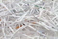 paper dokumentförstörare för cutting royaltyfri bild