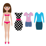 Paper doll Stock Photography