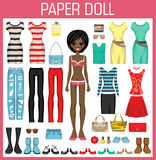 Paper doll with clothes Stock Photography
