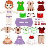 Paper doll. Royalty Free Stock Image
